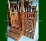 Produk Pilihan Mimbar Masjid Jati Atap Kubah dengan Special Produk MM 222