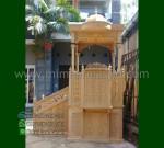 Produk Pilihan Mimbar Masjid Kubah Jati Product Paling Laris MM 247