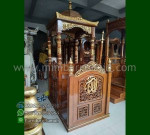Produk Terbaru Mimbar Masjid Kubah Jati Product Paling Laris MM 223