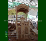 Produk Terlaris Mimbar Masjid Ukir Atap Kubah Desain Paling Laku MM 278