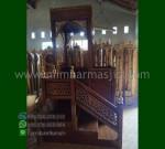 Produk Unggulan Mimbar Masjid Kubah Jati Promo Furniture Jati MM 235