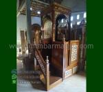 Promo Kami Mimbar Masjid Jati Atap Kubah Produk Mebel Jepara MM 234
