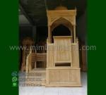 Promo Stock Mimbar Masjid Ukir Atap Kubah Desain Paling Laku MM 254
