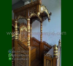 Promo Stock Mimbar Masjid Ukiran Kubah Furniture Best Seller MM 229