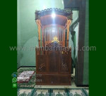 Ready Order Mimbar Masjid Ukiran Kubah Furniture Best Seller MM 205