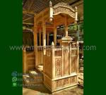 Special Produk Mimbar Ukiran Atap Kubah Asli Furniture Jepara MM 281