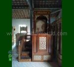 Special Promo Mimbar Ukiran Atap Kubah Asli Furniture Jepara MM 233